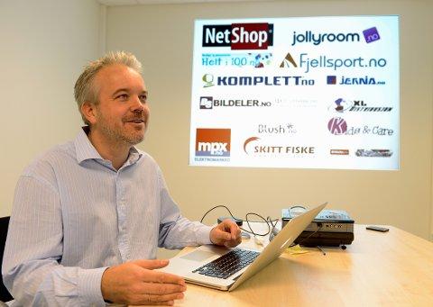 LØNNSOMT PÅ NETT: Mange tjener gode penger på nettbasert handel i Sandefjord. Eric Sandtrø er én av pionerene.