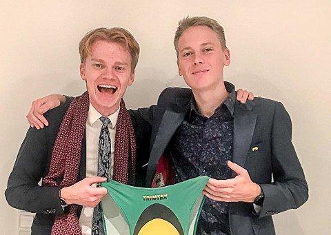 """TJENER IKKE """"FETT"""": Fredrik Sandvik (til høyre) har ingen inntekt fra idretten sin. Dermed kommer studielånet godt med. Her sammen med løperkollega Sondre Opaker Øines."""