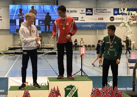 BRONSE: Det blei tredjeplass på Knut Werge-Olsen (16) på dagens 60 meter under UM i Ulsteinvik. (Foto: Knut Werge-Olsen)