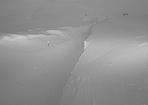 STENGT: Slik ser det ut ved Vossadalen på Vikafjell torsdag morgon klokka 05.50.