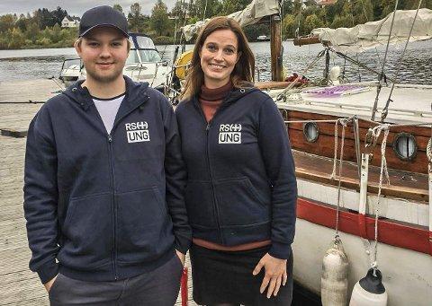 STARTER UNG-LAG I GRENLAND: Andreas Holmberg Pettersen og Camilla Dukefos vil ha med seg flere i RS Ung Grenland.FOTO: BJARTE SKAU, REDNINGSSELSKAPET