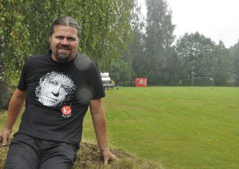 GIKK BORT: Bjørn Thore Andreassen på plass i Farstadparken der 12 utgaver av Kartfestivalen ble arrangert. Tirsdag kom meldingen om at han har gått bort.