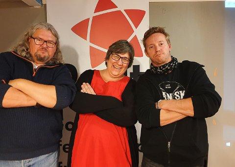 VALGVINNERE: Rødt doblet oppslutningen i Porsgrunn. Her de tre som nå kommer inn bystyret: Fredrik Botnen Nordahl, Gitte Slåtta og Pål Berby.