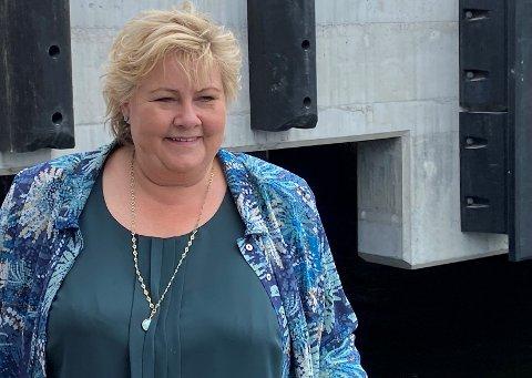 INGEN PENGER: Statsminister Erna Solberg har ingen ekstra penger til Wrightegaarden.