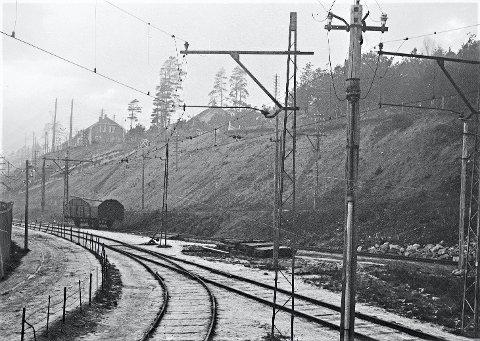 Jernbanespor ved Hydroparken.