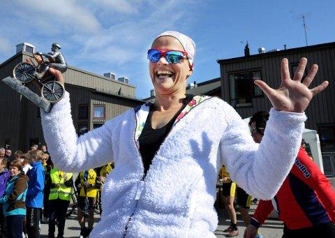 Ellen Jendal var raskest av nordmøringene i kvinneklassene. Hun kom i mål på en tid under 4 timer.