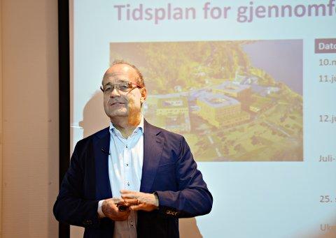 - Vi beveger oss i riktig retning, men ligger fortsatt over, sa Johan Arnt Vatnan, leder i prosjektstyret for SNR, på onsdagens styremøte i Helse Møre og Romsdal.