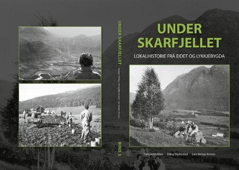 TREDJE: Torsdag lanseres tredje bind i serien «Under Skarfjellet», som er lokalhistorie fra Eidet og Lykkjebygda i Surnadal.