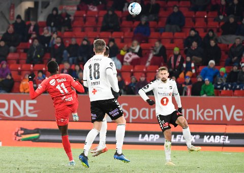 Daouda Bamba med ryggen til scoret et etterlengtet mål da medaljekandidaten Odd ble sendt hjem med 0-1-tap i Bergen fredag.