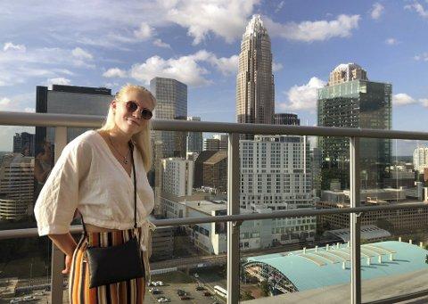 Ni måneder etter at hun reiste fra USA er Elise Hoel Ulseth tilbake på Queens University of Charlotte i Nord-Carolina.