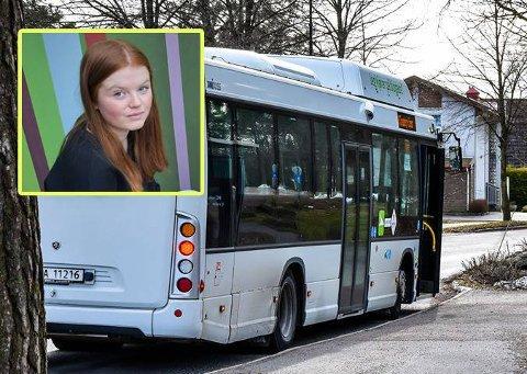 BEDRE TILBUD: Leder av Ungdomsrådet i Færder, Malin Kjøle Tuxen, opplever at mange ungdommer har et for dårlig busstilbud i Færder.