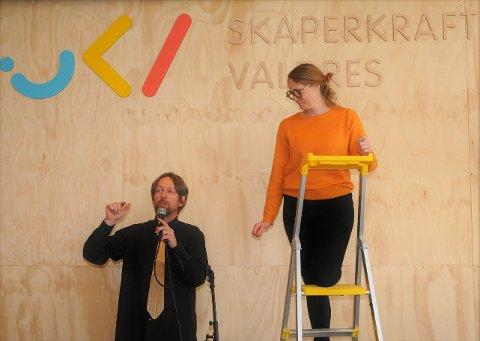 Drahjelp: Skaperkraft Valdres, ved Gudbrand Silvet Heiene og Heidi Bragerhaug, har tilsagn på 500.000 kroner i støtte fra Oppland fylkeskommune for driftsåret 2020, men det avhenger av at de sjøl klarer å skaffe én million kroner.