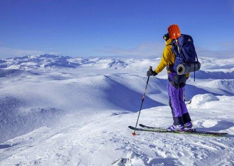 Illustrasjon: Skørsnøse ligg på 1453 meter over havet.