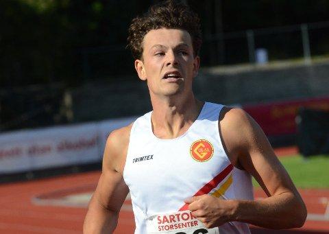GOD TID: Sebastian Plows ble nummer fire på 400 meter under junior-NM. 49.20 er en av hans beste tider noen gang.