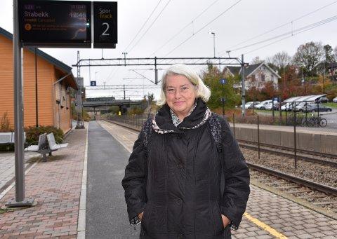 AKTIV: Anne Marit Rolén var en av dem som ble rammet av togstreiken i dag.