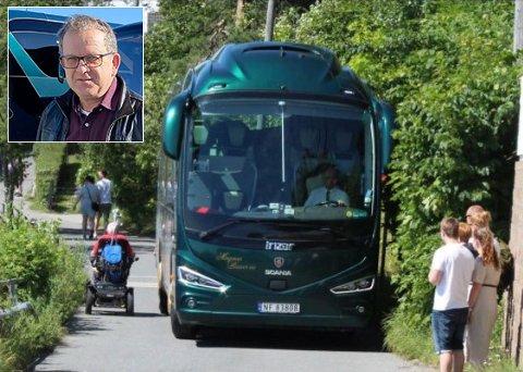 Bussjåfør Magnus Kleiven fikk mange reaksjoner etter den store feilkjøringen i Frogn.