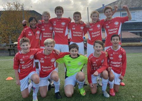 SEIER: Glade FFK-gutter etter dagens 13-0 seier.