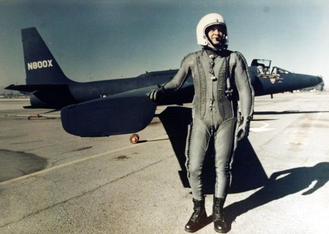 Pilot Francis Gary Powers foran U-2-flyet. Foto: NTB/Scanpix