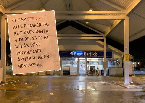 Rognans bensinstasjon stengte dørene torsdag denne uka. Foto: Ole Kristian Berg