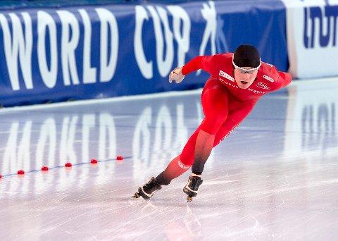Sverre Lunde Pedersen vant 3000 meter i Sørmarka arena under et testløp lørdag. Foto: Sander Hvammen / NTB scanpix