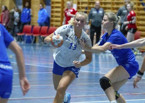 Best i starten: Emma Haugstvedt startet kampen svært bra og ble Gneists beste spiller med sine elleve mål. Foto: Bernt-Erik Haaland