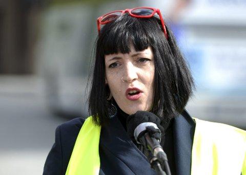Fagforeningsleder: Sara Bell, leder i Fagforbundet, maner til samling om å jobbe for et nytt Ap-venstre-byråd til høsten.