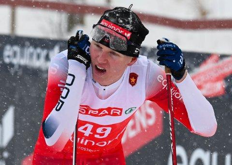 Martin Kirkeberg Mørk hadde ingen super dag, men ble likevel nest beste junior under NM 10 km klassisk.