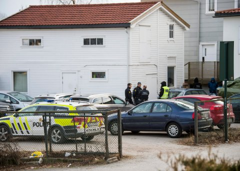 Fire pågrepet: Politiet slo til mot en adresse i Glemmengata fredag ettermiddag.
