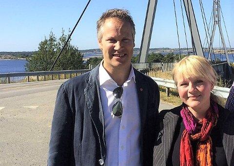 Ordførerne Jon-Ivar Nygård og Mona Vauger må begge få ned kommuneutgiftene. Men både Fredrikstad og Hvaler har penger på bok og klarer seg unna Robek-registeret. Foto: FB Arkiv