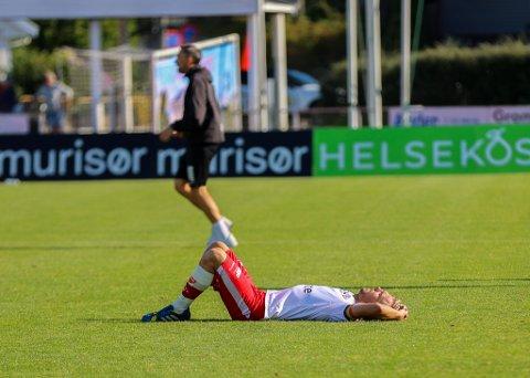 Mads Nielsen og FFK tapte mot Jerv i Grimstad lørdag.