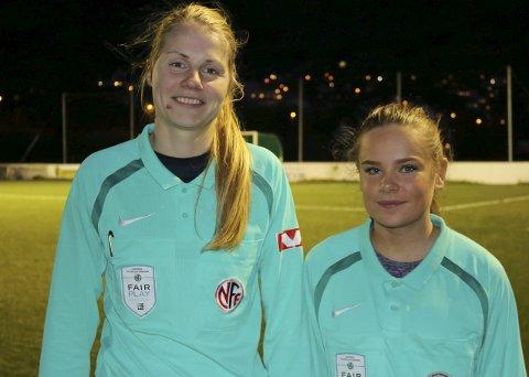 Mot toppen: Veronika Fjeldvær og Kristine Håvardsen er to av kretsens fremadstormende, kvinnelige dommere.