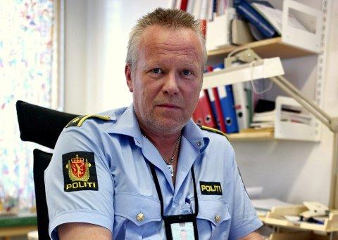 SEKSJONSLEDER FOR ETTERFORSKNING: Jostein Kroken sier de samarbeider med Troms politidistrikt fordi de to siktede også har saker mot seg blant annet i Harstad. Arkivfoto