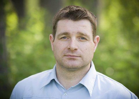 FORNØYD: Venstres stortingskandidat i Hedmark, Ole Frode Mikkelsgård, mener statsbudsjettet gjør grønne skoger til gull for Hedmark.FOTO: JENS HAUGEN