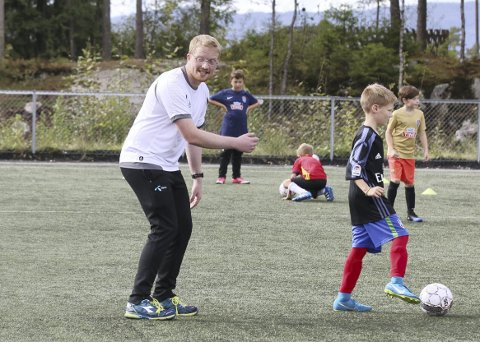 Ole Kristian Skogum på trening med HSV fotball i Akershus.