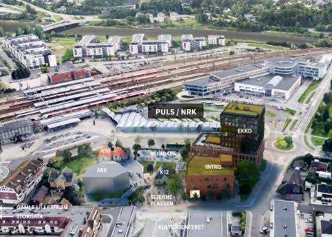 AKTUELL TOMT: Hit ønsker Lillestrøm NRK velkommen. Tomta ligger tett på jernbanen.