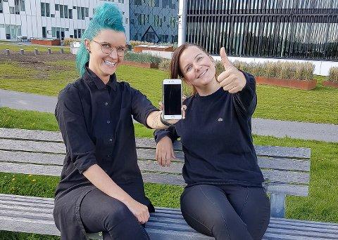 GRÜNDERE: Charlotte Aschim og Ingrid Østby (til høyre) vil at vi skal kaste mindre mat. I løpet av året lanserer de en ny app som skal holde oversikt over hva du har i kjøleskapet ditt, og hvilke retter du kan lage med disse varene.