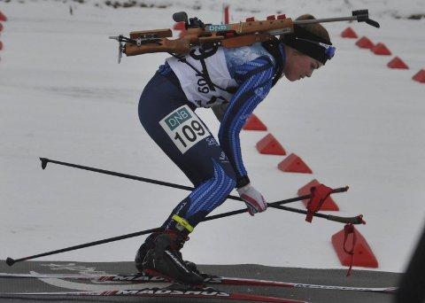 MELLOMFORNØYD: Oda Støen Kolkinn synes sjuendeplass var greit, men var ikke fornøyd med innsatsen på standplass der hun pådro seg totalt fire strafferunder.