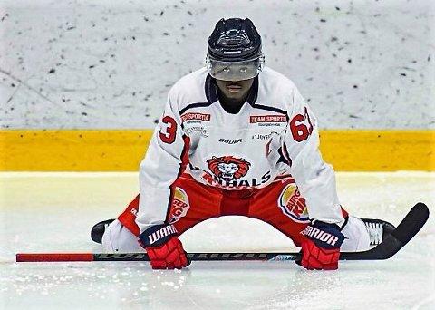 TØFF VEI: Comets nykommer Pah-Mansu Pabi Janneh forteller til hockeysverige.se at veien mot topphockeyen har vært tøff. Til høsten spiller han for Comet.