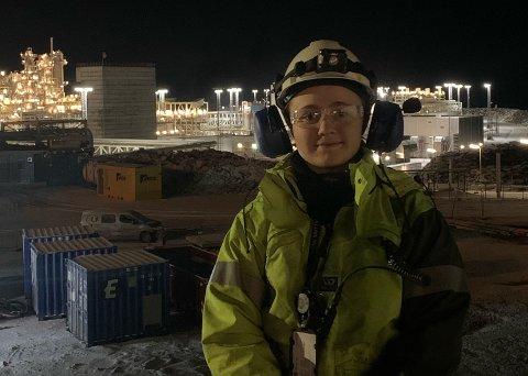 Lærling og arrangør:Andrea Martine Aksberg (18) jobber til vanlig som lærling på Melkøya. Men på fritiden er det UKM som gjelder.