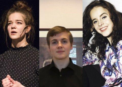 DRØMMESTIPEND: Linn Isabel Eielsen, Thomas Sævik og Miriam Hammersland har blitt tildelt 15.000 kr hver for å satse på kultur-drømmene sine.
