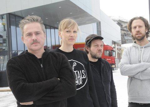 Regi og idé: Morten Traavik, komponister og musikere Jørgen Træen og Kjetil T. Møster. Produsent Gurp Vrålstad .FOTO: kristian Østvik
