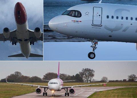 TRE SELSKAPER - 17 AVGANGER: Fra 5. november skal tre selskaper konkurrere om flypassasjerene til og fra Tromsø. Foto: Yngve Olsen og Are Medby