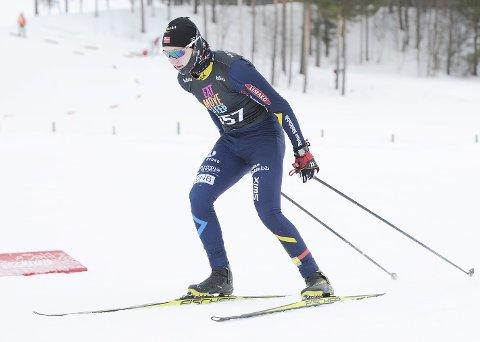 Var GOD: Lars Håkonsen (14) imponerte da han ble nummer elleve i Hovedlandsrennet. Foto: Svein Halvor Moe