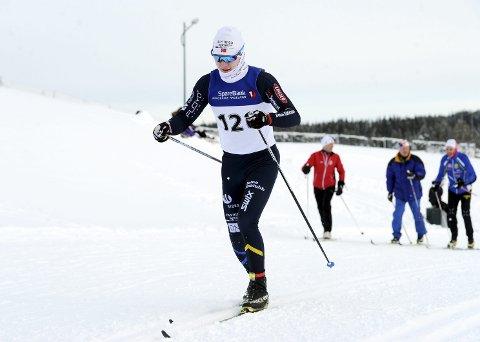 STERK: Lars Håkonsen imponerte da han sikret seg bronsemedalje i Hovedlandsrennet i langrenn. Foto: Svein Halvor Moe