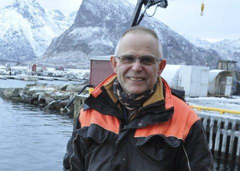 FORNØyd: Fiskekjøper Kristian Gjertsen ved Bjørn Gjertsen AS smiler godt etter at 2015 ble en veldig godt år for bedriften. Foto: Magnar Johansen