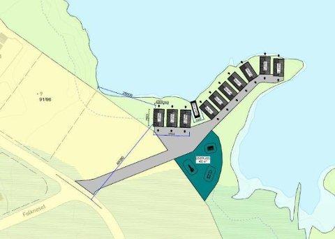 I Folkeneset i Borge ønsker kommunen å legge til rette for etablering av naust og båtutsett.