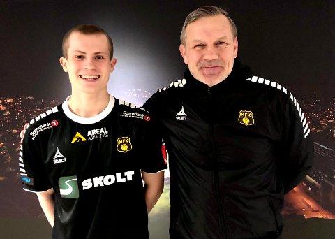 LÅNES UT FRA STABÆK: Aleksander Andresen (15) lånes ut fra Stabæk til Moss, det setter MFK-trener Shaun Constable stor pris på og gir unggutten A-lagsdebuten mot Asker lørdag.