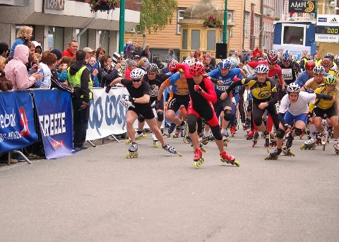 HURTIG: Rulleskøyteløperne gikk 10 kilometer helt nede på 18 minutter sist konkurransen ble avholdt i Tromsø i 2009.