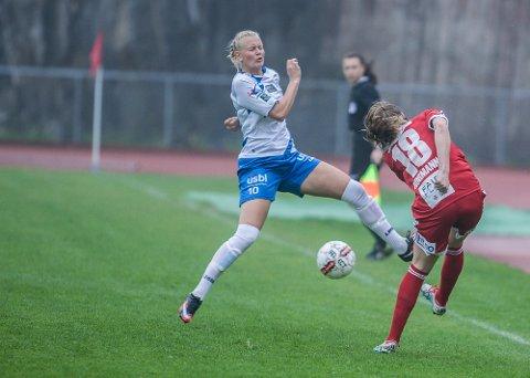 TØFT: Karina Sævik scoret 2-1-målet i en kamp der Kolbotn begynte dårlig.