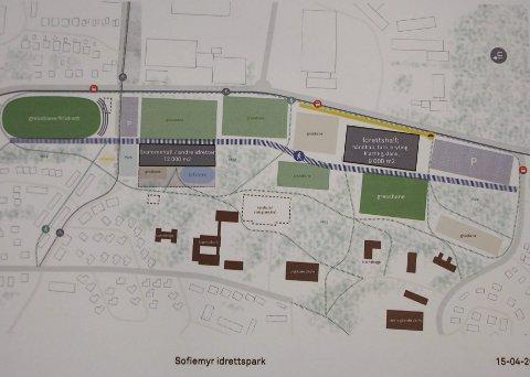 Samarbeid: Sofiemyr Crossover får to idrettshaller, en flerbrukshall og en idrettshall med svømmehall. ILL: Åf Reinertsen AS/tegn_3